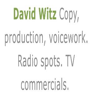 David Witz Audio Advertising