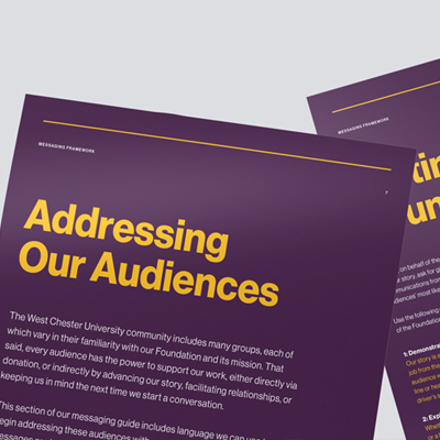 Higher ed website design inspired by a strategic messaging framework